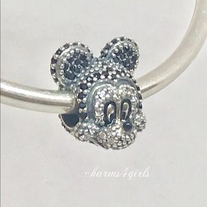 Authentic PANDORA Sparkling Mickey Mouse Charm